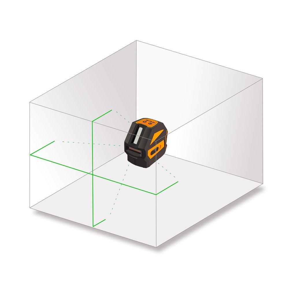 Схема лучей лазерного нивелира RGK PR 110 green