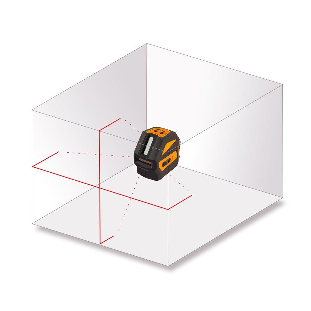 Схема лучей лазерного нивелира RGK PR 110