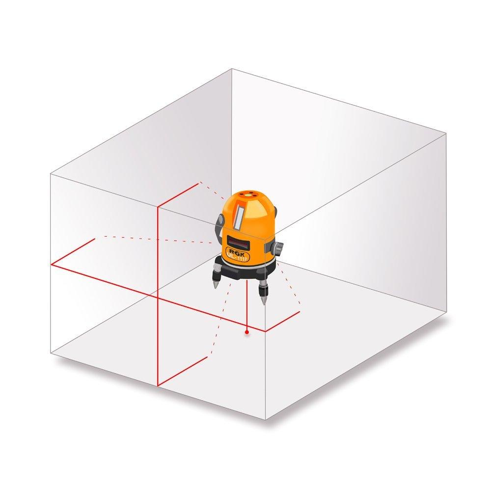Схема лучей лазерного нивелира RGK UL 111p