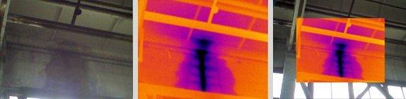Тепловизор для выявления участков повышенной влажности и мест образования плесени