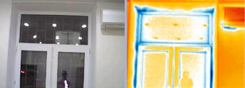 Изображение снятое тепловизорором Testo